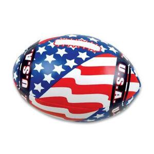 "Dozen 5.5"" Soft Stuffed US Flag Footballs Favor Party Fillers Prizes Assortment"