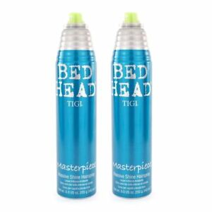 TIGI Bed Head Masterpiece Massive Shine Hairspray Pack of 2 x 340 ml