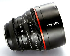 Customized Cine lens Canon 24-105mm f4 EF mount for Canon 5D BMCC BMPCC RED