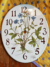 Vintage French Enamelware Clock Face Lulin Paris French Provincial Chic Boho