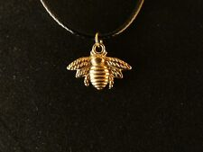 Biene Anhänger mit Kette 24 Karat Vergoldet Honig Imme Honey Bee Imker Insekt