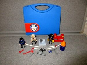 Playmobil-Fire Dept Case-Figures Accessories---Not Complete-Lot F2