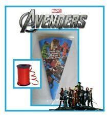 10 AVENGERS PERSONALISED DIY/party bags/sweet cones/kit/boys girls birthday