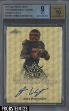 2018 Leaf Metal Draft Touchdown Superfractor James Washington RC AUTO 1/1 BGS 9
