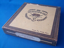 """vintage cigar box Shakespeare Oxford Selection Epicures 7½""""x7¼""""x1¼"""""""