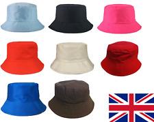 Cotton Adults Bucket Hat Summer Fishing Fisher Beach Festival Sun Cap UK