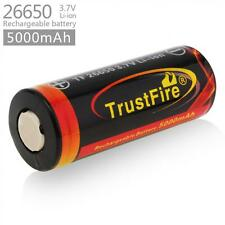1 Piece TrustFire 3.7V 26650 5000mAh Li-ion Rechargeable Battery for Headlamps