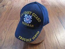 UNITED STATES COAST GUARD VETERAN HAT BALL CAP USCG PROUDLY SERVED 863990d2d1a7