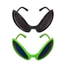 Alien Sc Fi Bug Fly Green or Black Glasses Sunglasses Martian Adults Fancy Dress