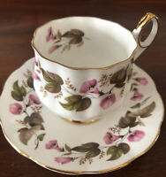 Elizabethan Fine Bone China England Cup and Saucer.  Morning Glory