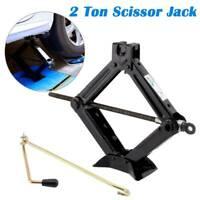 2 Ton Tonne Scissor Wind Up Jack for Car Van - with Crank Speed Handle