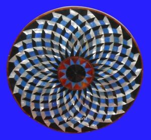 """24"""" Marble Coffee Center Table Top Rare Marquetry Inlay Mosaic Art Home Decor"""