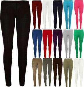 Ladies LEGGINGS thick winter lined warm high waist tummy control _CTnLG