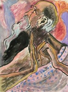 Roger Latimer Ashby - 1942-1998 - Study of a saint  - Picasso  influence