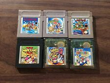 Super Mario Land 1+2+3 +Wario Land II+3+Bros. Deluxe (Game Boy Color LOT) carts