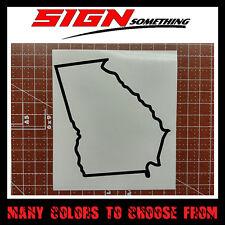 Georgia State Outline Decal, Sticker