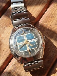 Vintage rare 70's Tressa Lux Crystal Automatic Watch Swiss 1970s All Original