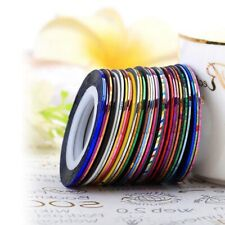 30Pcs Mixed Colors Rolls Striping Tape Line DIY Nail Tips Decoration Sticker NEW