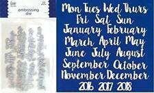 Love Nicole Embossing Die 22 pc Week Days Month & Year STC0291