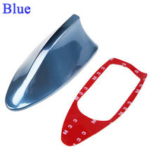 Blue Car Shark Fin Antenna Decor Roof Aerial with Radio Signal FM/AM Universal