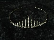 Diamante & Pewter Colour Metal Tiara - New & Boxed - Wedding or Prom