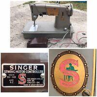 VINTAGE SINGER SEWING MACHINE 196131-04 GREAT BRITAIN  Working Cond 1960-1965