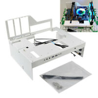 PC Case Open Frame Test Bench Water Cooling Graphics Card MATX ATX White