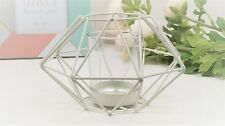 GEOMETRIC METAL CANDLE HOLDER-CREAM