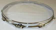 """14"""" 10 Hole 3mm Triple Flanged Chrome Drum Hoop Snare Side between 2.3 Die Cast"""