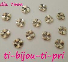 LOT de 60 PERLES RONDELLES plates INTERCALAIRES ondulées 7mm ARGENTE bijoux