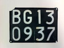 Original Bergamo Italy Auto License Plate Italian - #530