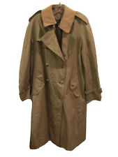Burberrys' Men's Trench Coat Beige Cotton Blend Button In Wool Lining Size 38R