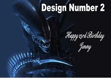 Alien Horror Personalised Large Birthday Card Dad Uncle Brother Sister Mum