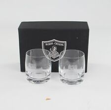 More details for burns crystal, 2 x glamis castle whisky tumblers, boxed