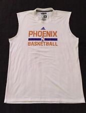 Phoenix Suns Game Warm Up Shirt Jersey Size XL Adidas White Cut Off Stains Book?