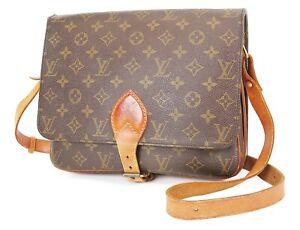 Authentic LOUIS VUITTON Cartouchiere GM Monogram Shoulder Bag Purse #38104