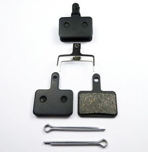2 Pairs of Resin Brake Pads for Shimano Deore - B01S B01 INCL SPLIT PIN
