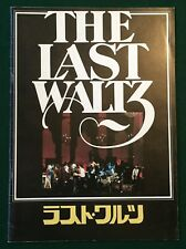 THE BAND The Last Waltz ~ Rare Japanese 24pp Film Programme, Dylan, Neil Young..