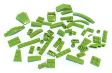 LEGO Lime Green Parts Bricks Mixed Bulk Lot 56 Pieces Plates GOOD VARIETY