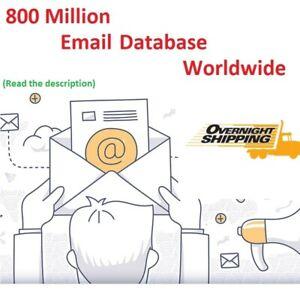 800 Million Email Database Worldwide US UK Marketing List Bonus 24h Delivery