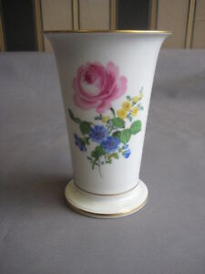 Meissen Vase mit Blumenmalerei
