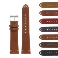 DASSARI Vintage Hand-Stitched Mens Leather Watch Band - Quick Release Strap