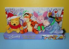 New 2001 Christmas Disney Fisher Price Winnie the Pooh Holiday Beans Plush