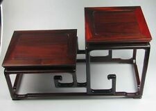 big rosewood stand China red hard wood display shelf for statue vase base 15.6""