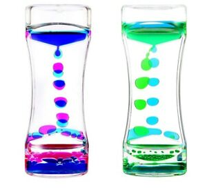 Dual Color Liquid Motion Timer for Fun Relaxation Kids Sensory Fidget Toy