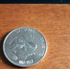2017 Canada 150th Anniversary 25 Cent BIRD TURTLE & BEAVER Quarter