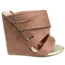 Spring Shoes Women Wedge Sandals Ladies Summer Mules Slippers Slip On Heels