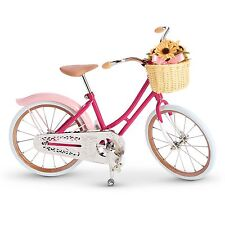 American Girl Samantha Victorian Bicycle Pink Bike Basket Flowers