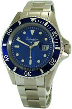 Eichmüller Herrenuhr Edelstahl Taucheruhr blau dive watch steel Ø43mm 20ATM 200m