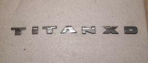 16 17 Nissan Titan XD Front Door Emblem Badge Nameplate 80893EZ10A